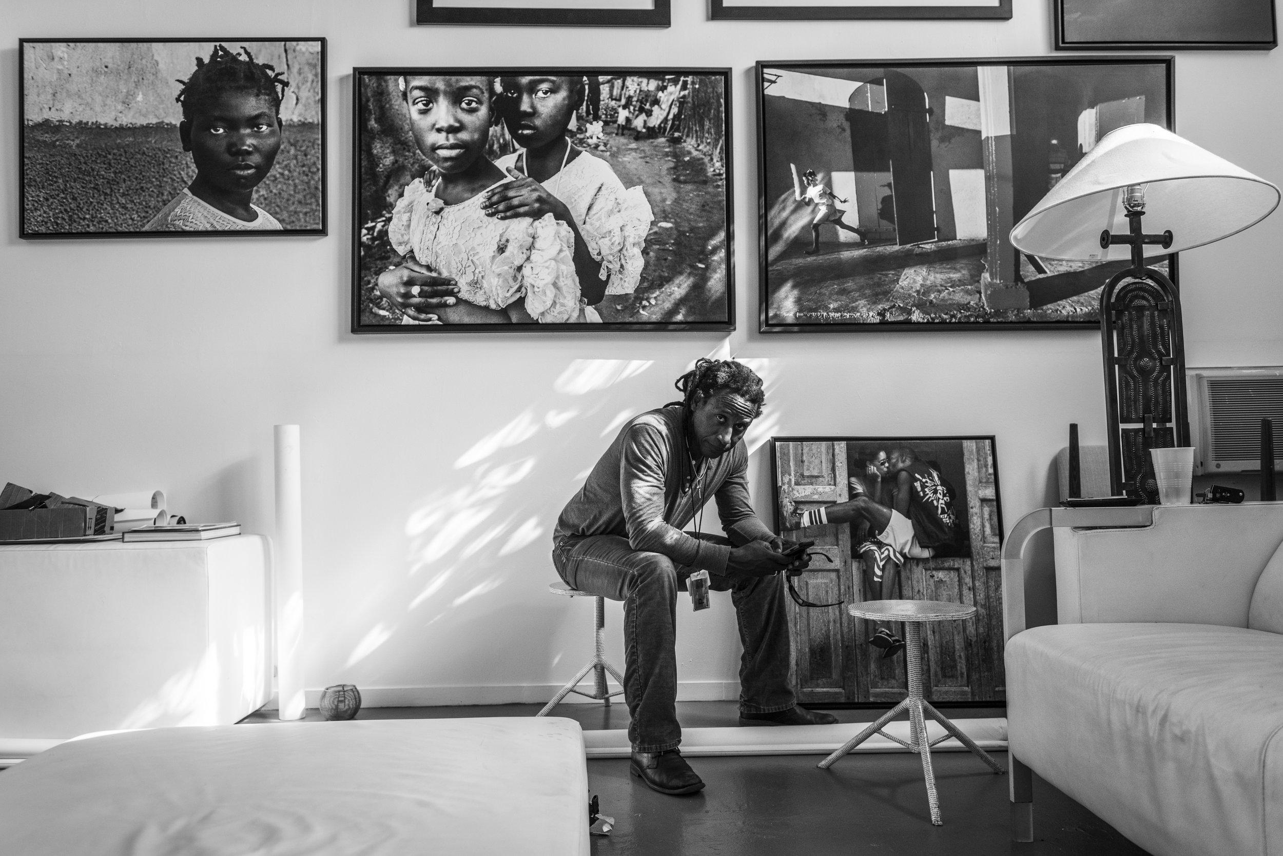 Miami Herald photojournalist Carl Juste in his studio in Little Haiti, Miami, Florida.