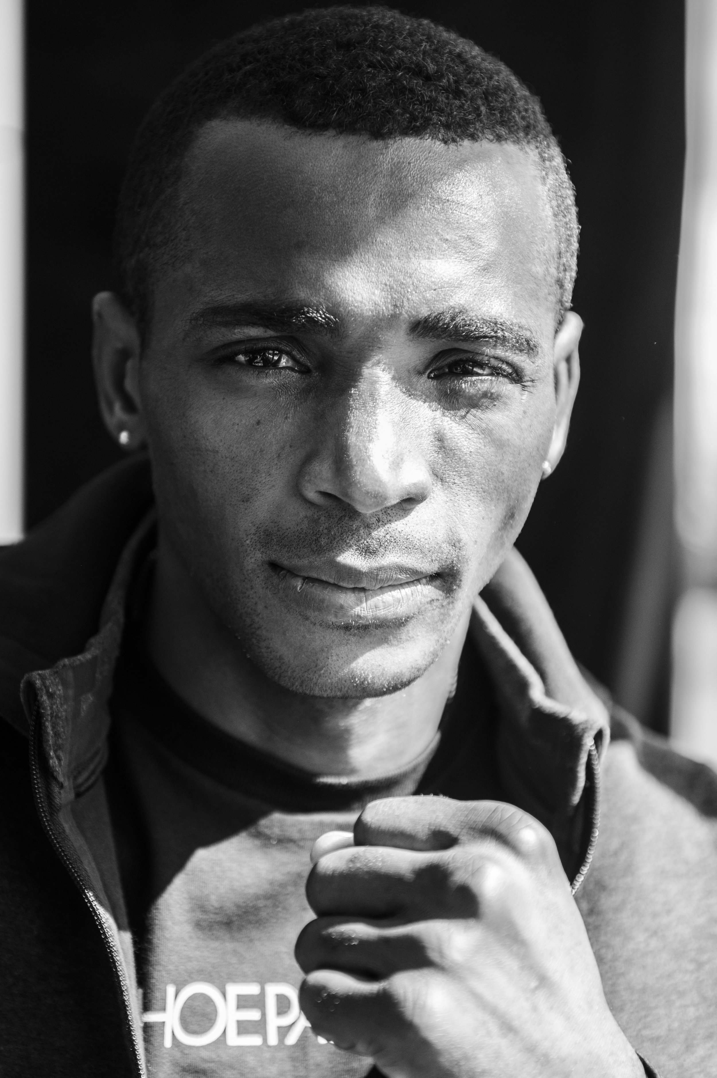 Cuban boxer Erislandy Lara poses for a portrait after his press conference today. Lara defended both his WBA and IBO Light Middleweight titles against Yuri Foreman.