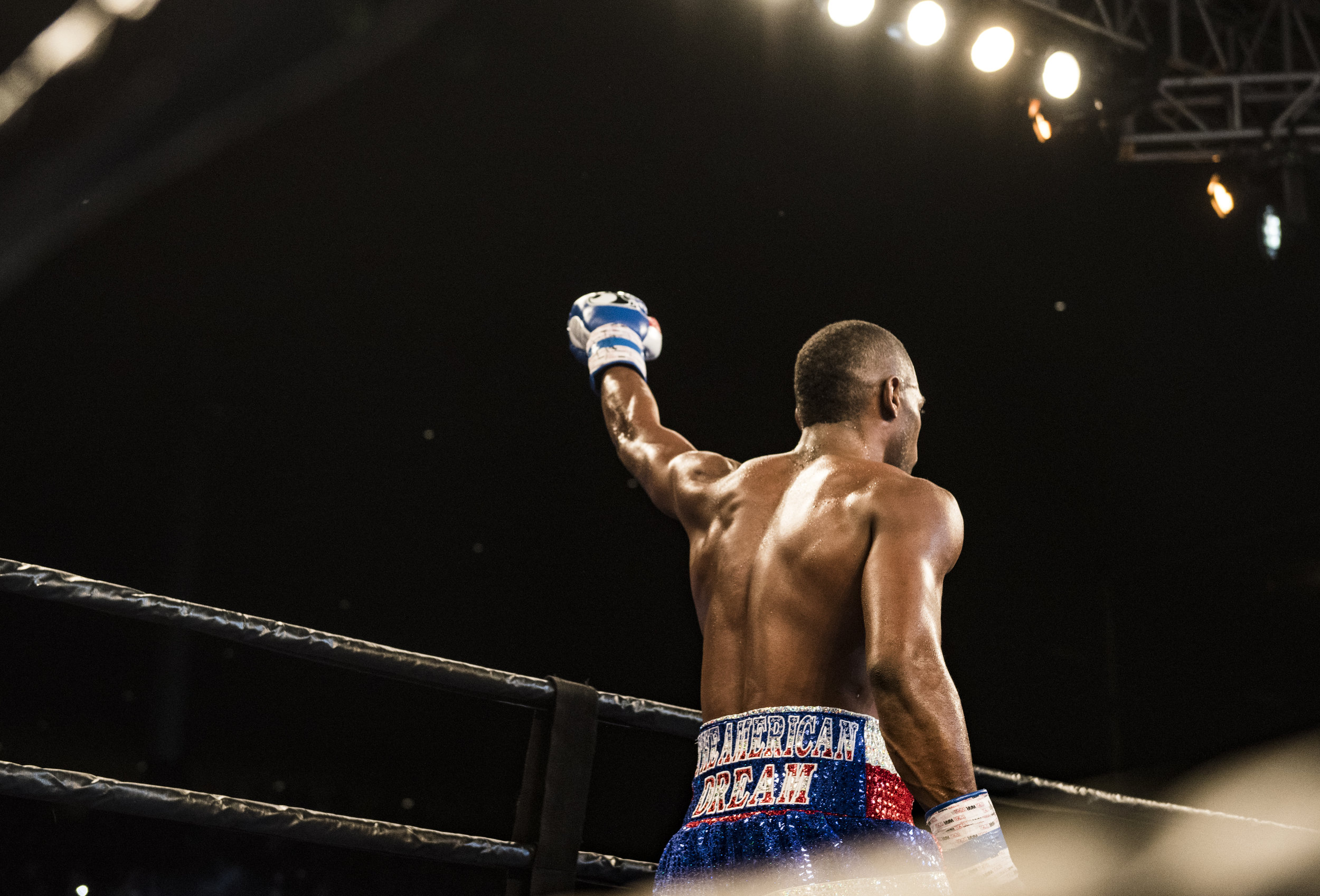 "Erislandy ""The American Dream"" Lara celebrates with knockout win against Yuri Foreman."