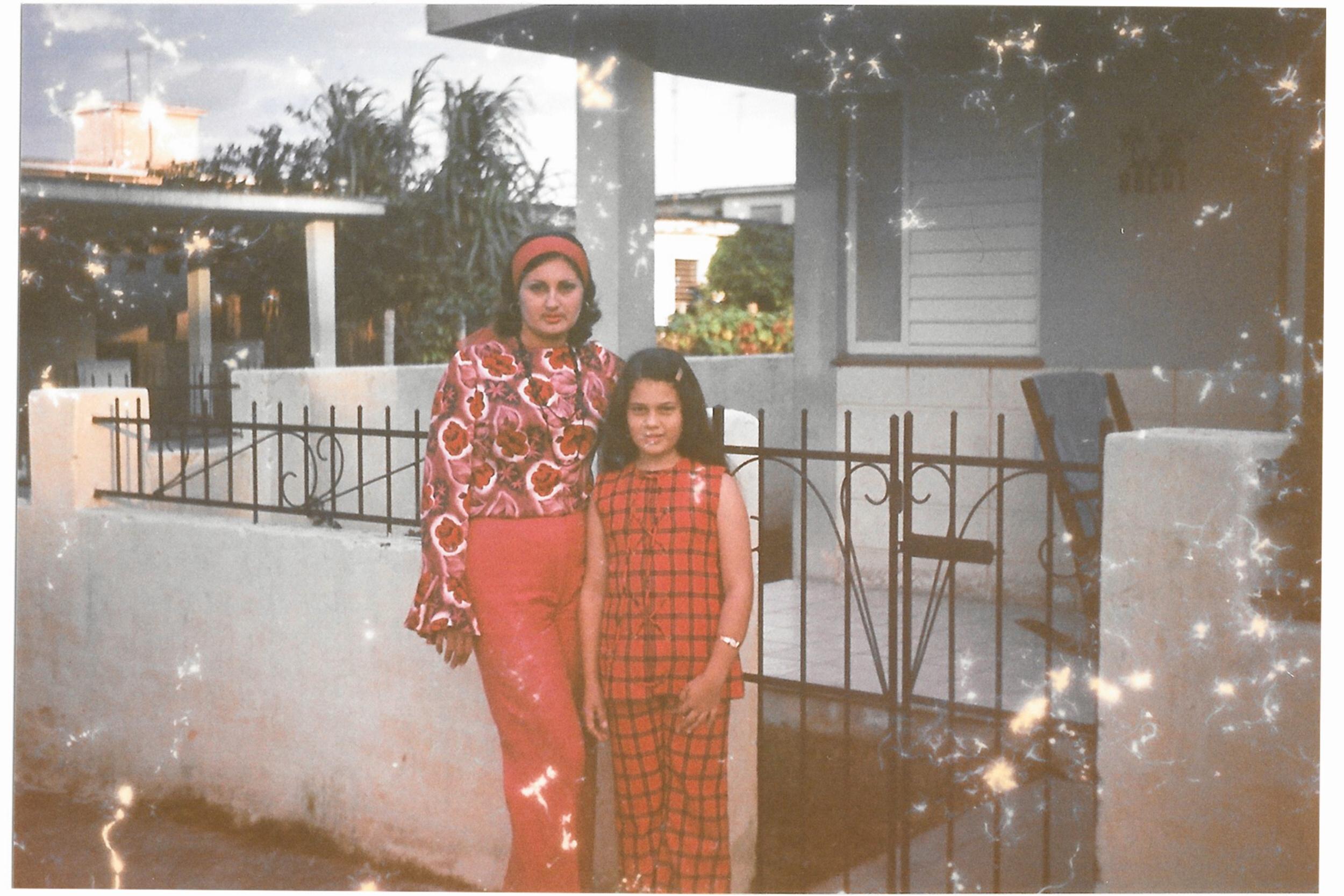 My grandmother and mother in Havana, Cuba in 1976.