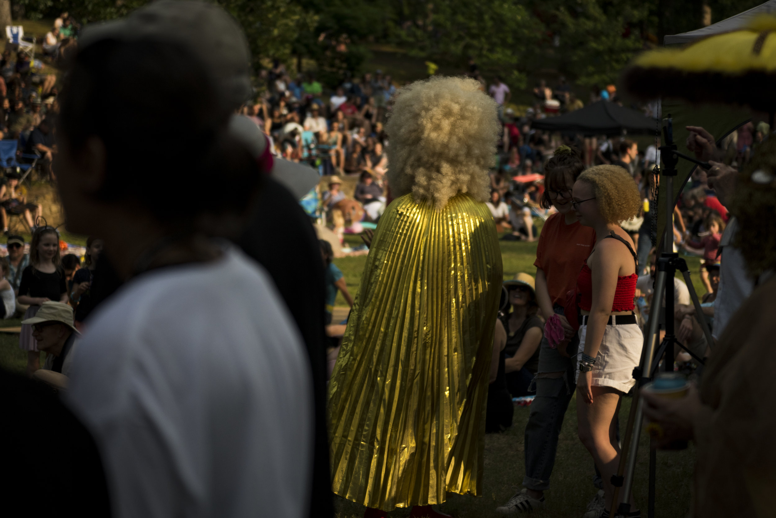 2018 Beaver Queen, Flat Tail Fanny, walks through the crowd on June 1, 2019 at the 2019 Beaver Queen Pageant in Durham Park.