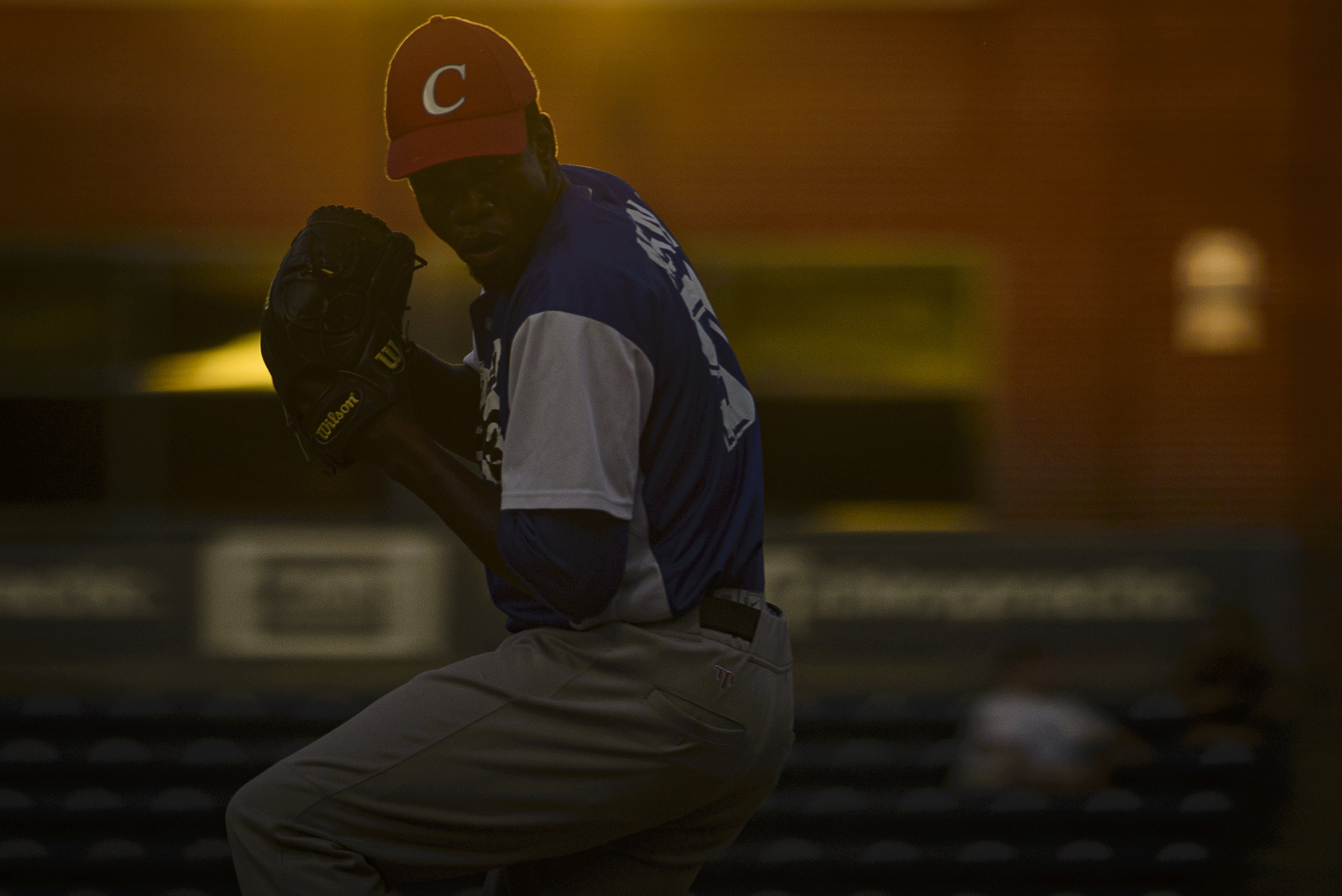 Cuban pitcher Frank Medina faces the USA Collegiate National team on July 6, 2019 at Durham Bulls Athletic Park in Durham, NC.