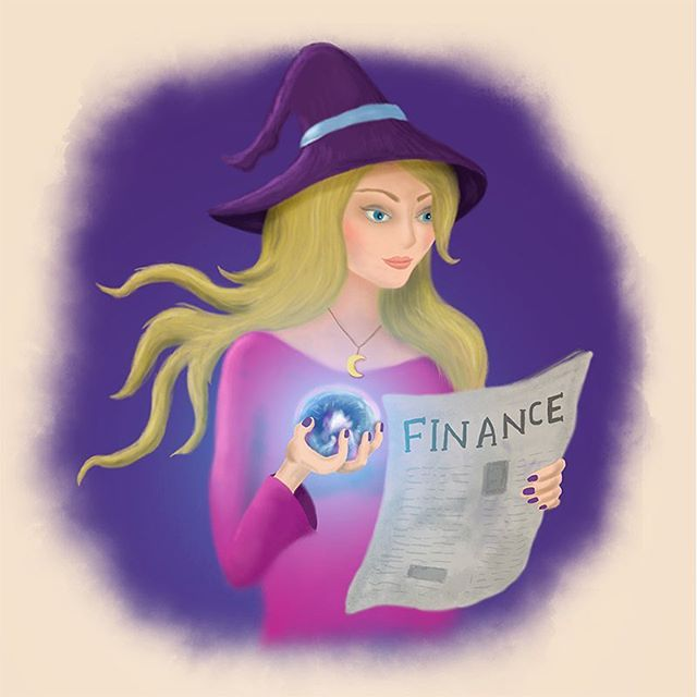 New logo with purple background. The old one has orange background and cacti 🌵. Do you like the old or the new one? . . . #financialwitch #witch #finance #illustration #logo #socialmediamarketing
