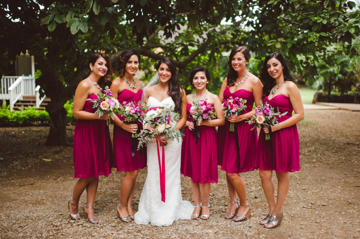 I loved the bouquets that we created for the gals, they're so bright, cheery and mod!