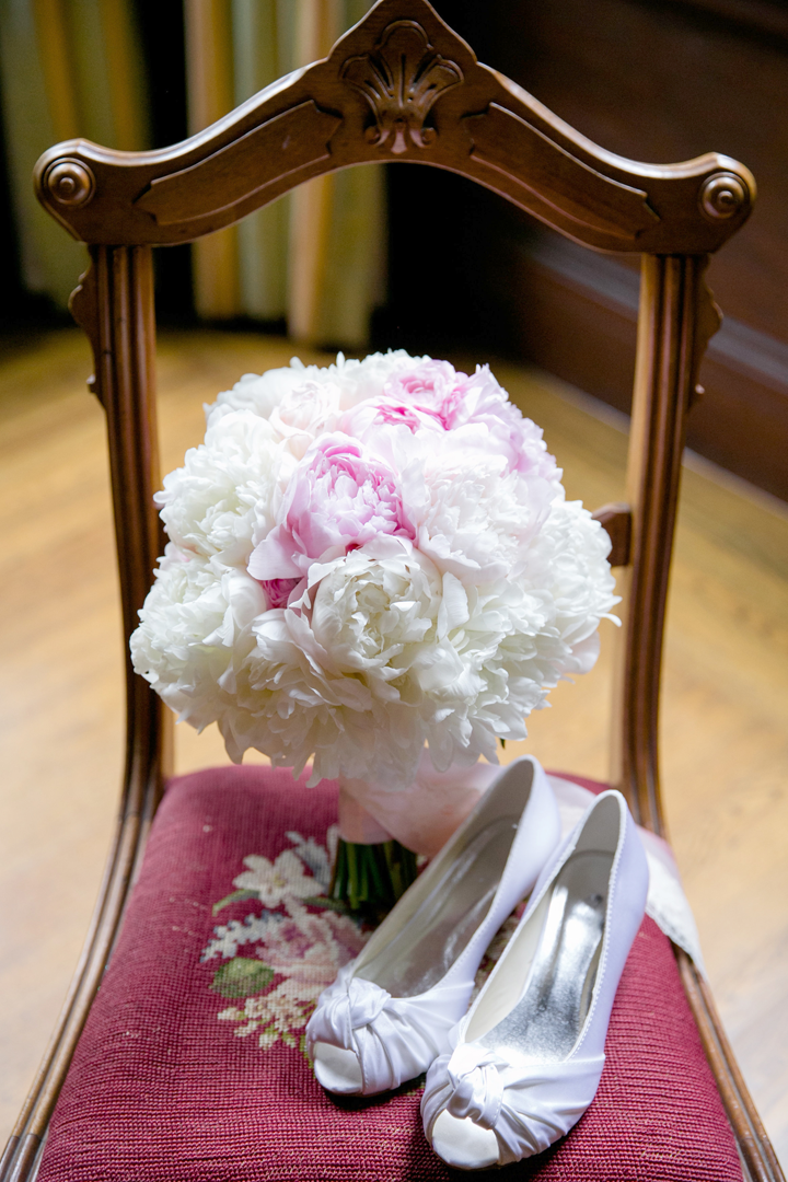 The bride loved peonies and how perfect was it that the wedding was in May, which is prime peony season!