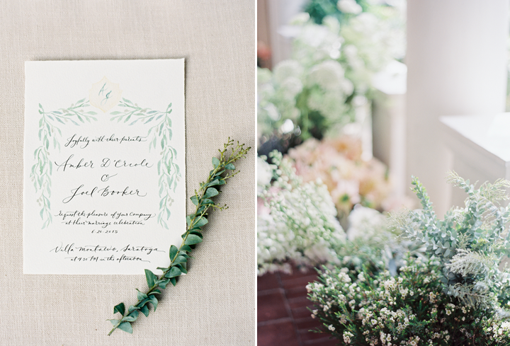 Jen Huang hand illustrated the gorgeous save the date and inspiration suite for their wedding and it was so beautifully elegant and classic.