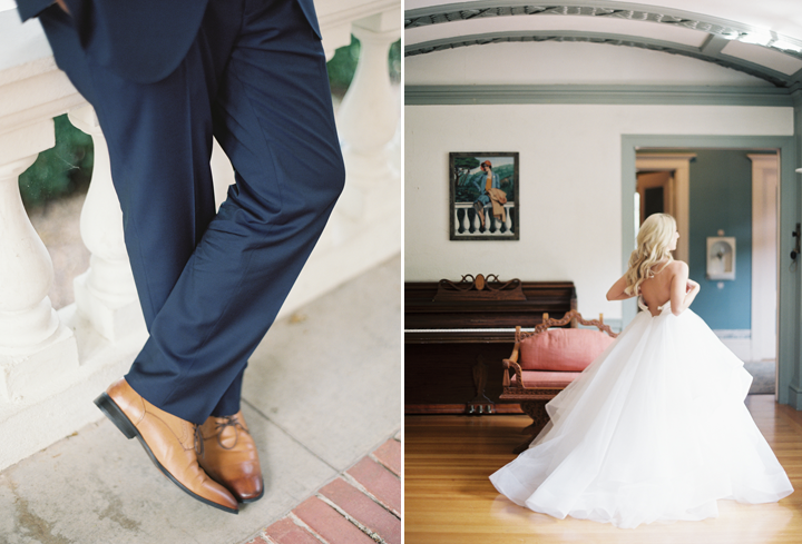 Amber wowed in her Amsale gown, complete with a custom hand dyed sash.