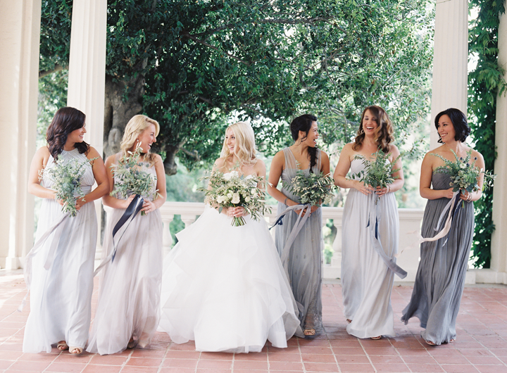I love that all the bridesmaids were wearing different dresses.  We created a color palette for the girls to find the dress that they felt the most beautiful in and their choices did not disappoint!