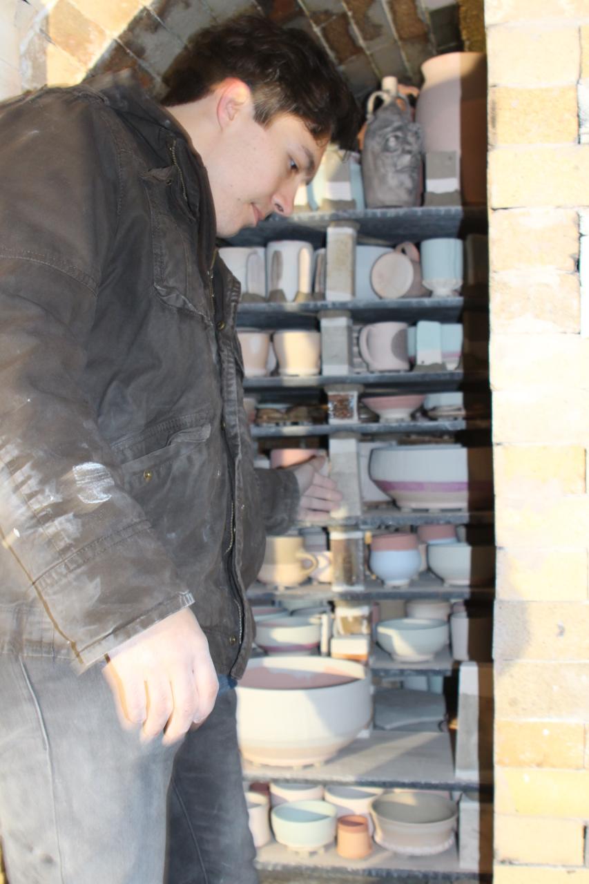 Liston loading the soda chamber.