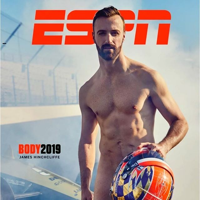 Here's @hinchtown in his birthday suit shot by @williamshirakawa for @espn The Magazine in July. The coolest thing about this - aside from working with such awesome talent and crew - was that I got to work as a local in my hometown of Indianapolis. It was a beautiful day and it wasn't a thousand degrees on the track which I was afraid of. I knew almost nothing about Indy cars even though I grew up there and still go back all the time to see my parents. Truth be told, I've only been to the 500 once and it was after I moved to California. I took a picture of my feet next to James' racing shoes. Red is for stop and green is for go go go. 📷@williamshirakawa  Grooming: me  Director of Photography: @frankie626  Photo editor: @julesgriff  Espn: @rachullrich