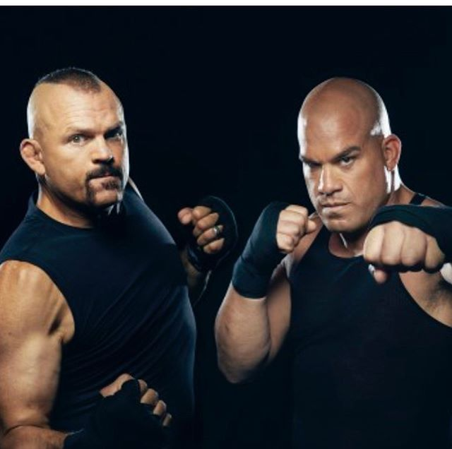 Promo for new @espn 30 for 30 featuring @chuckliddell and @titoortiz1999 📷 cred: @sophyholland  Grooming: me.  Styling: @deborahafshani  ESPN Director of Photography: @frankie626