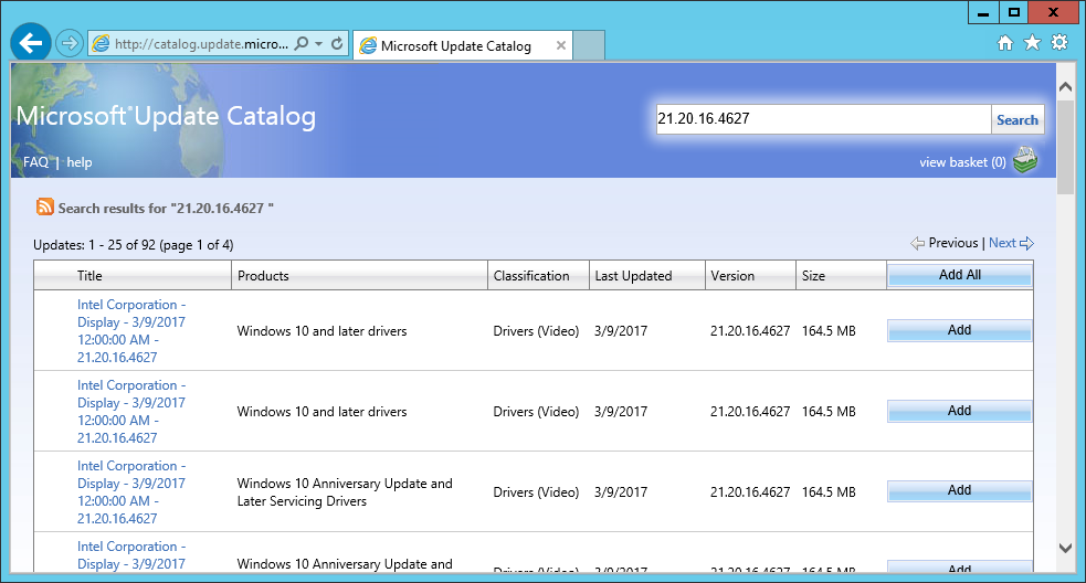 Drivers through WSUS — Decent Security