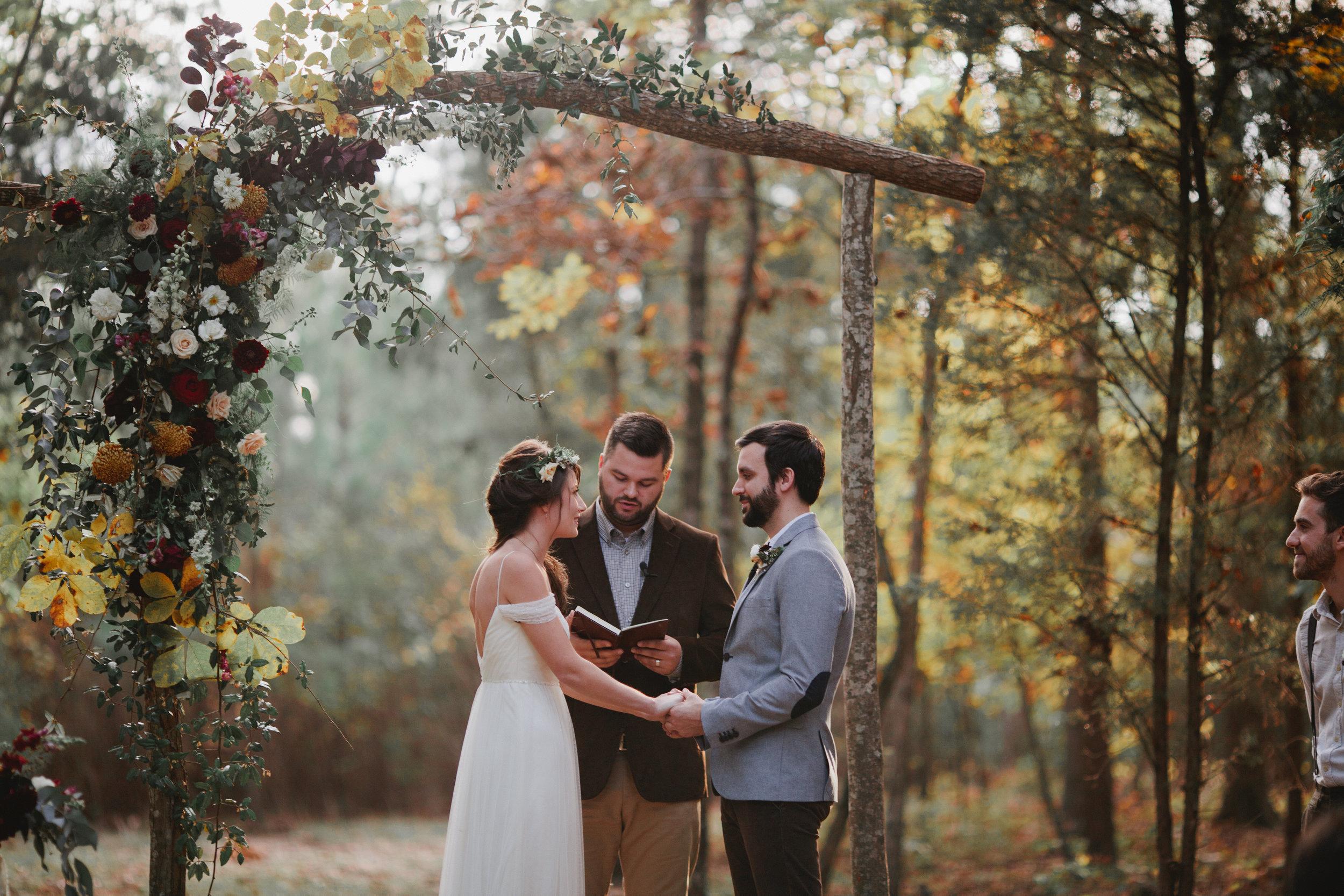 fall outdoor wedding venue charlotte north carolina woodland