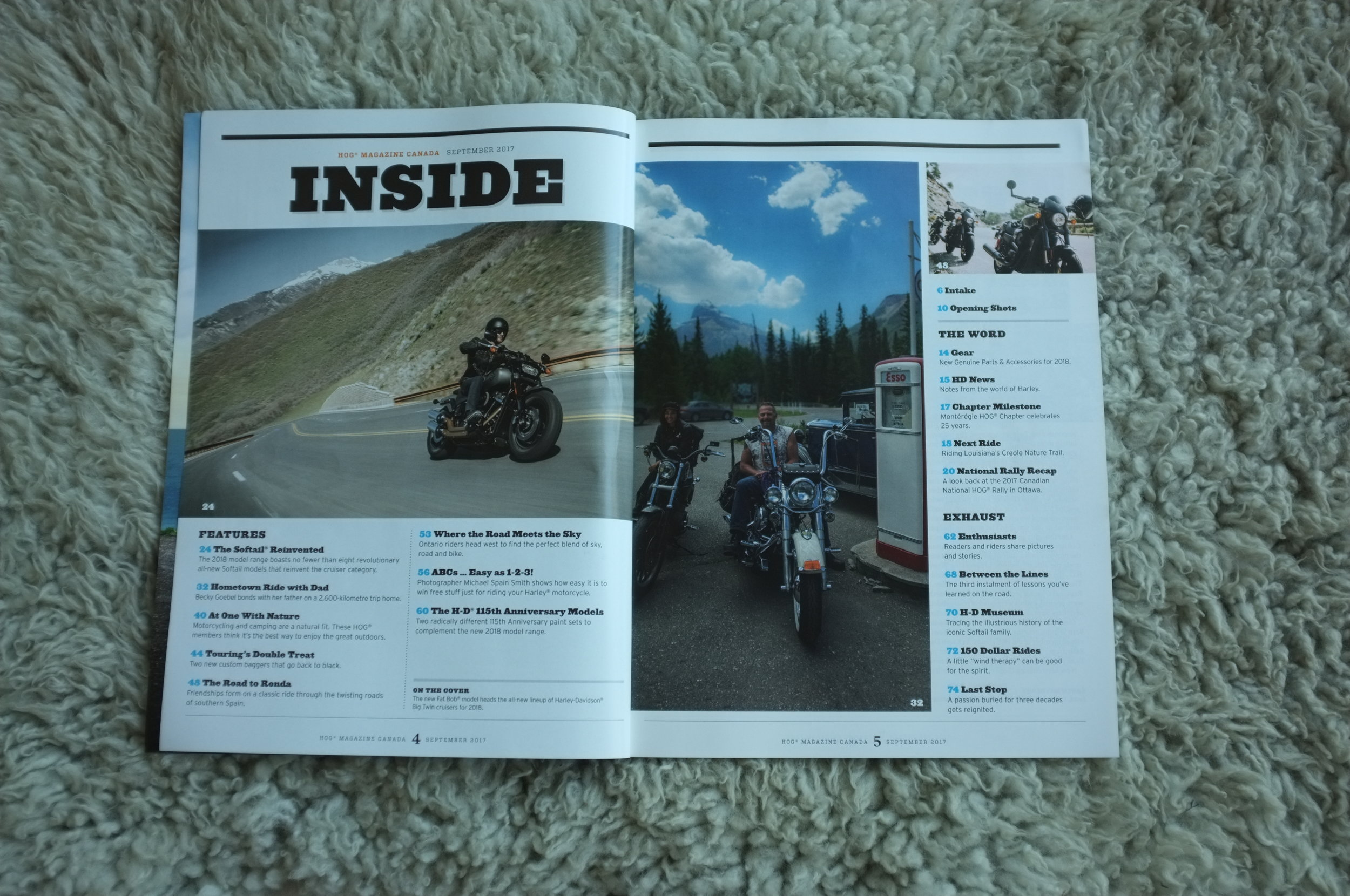 Contents Page of HOG Magazine, image of Becky & Mark Goebel