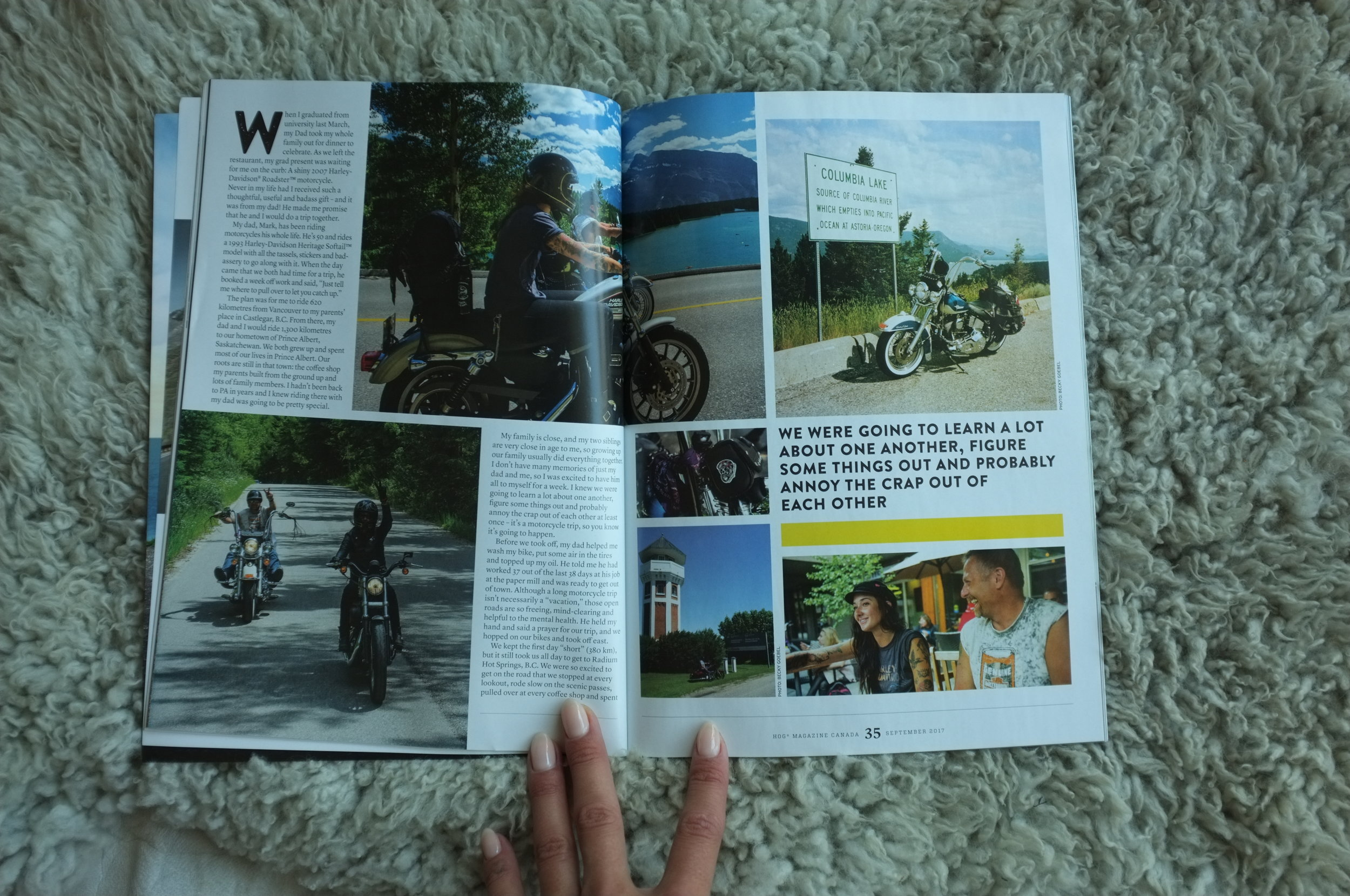 Pages 3 & 4 of HOG Magazine - Words and some photos by Becky Goebel