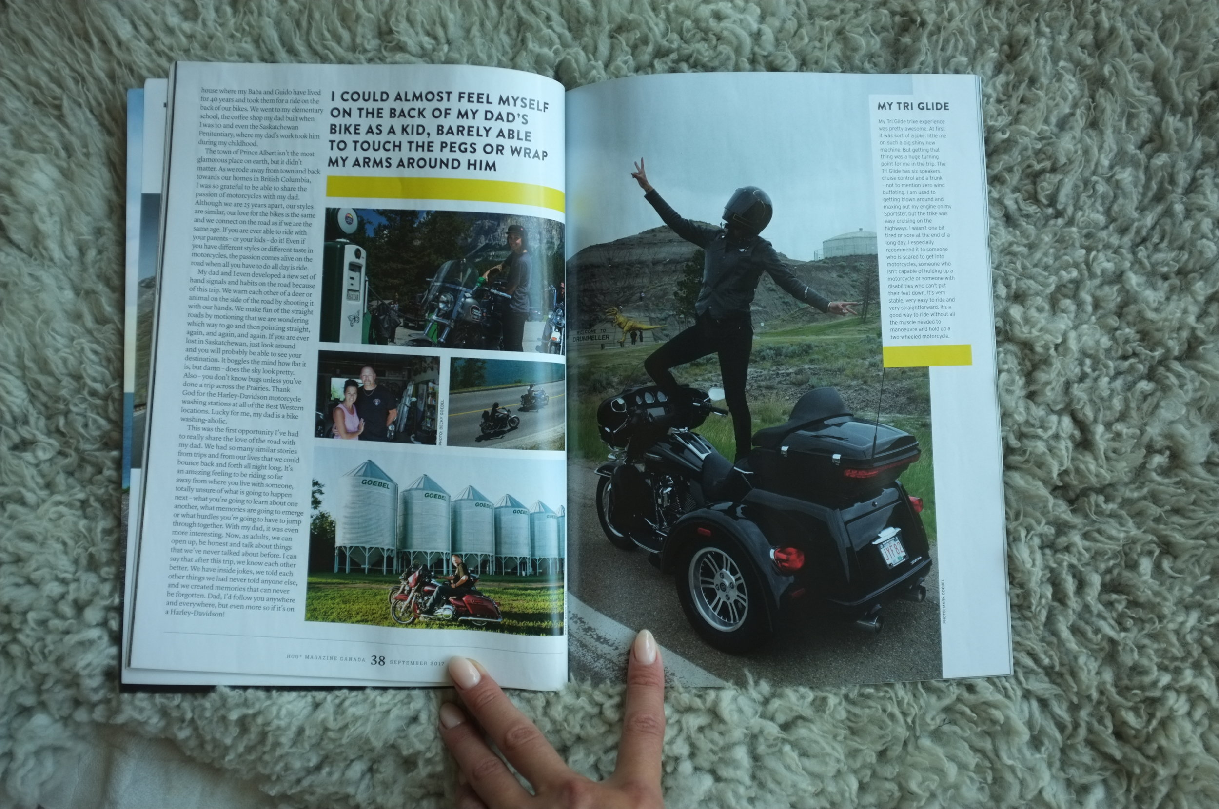 Page 7 & 8 of HOG Magazine - Words & some photos by Becky Goebel