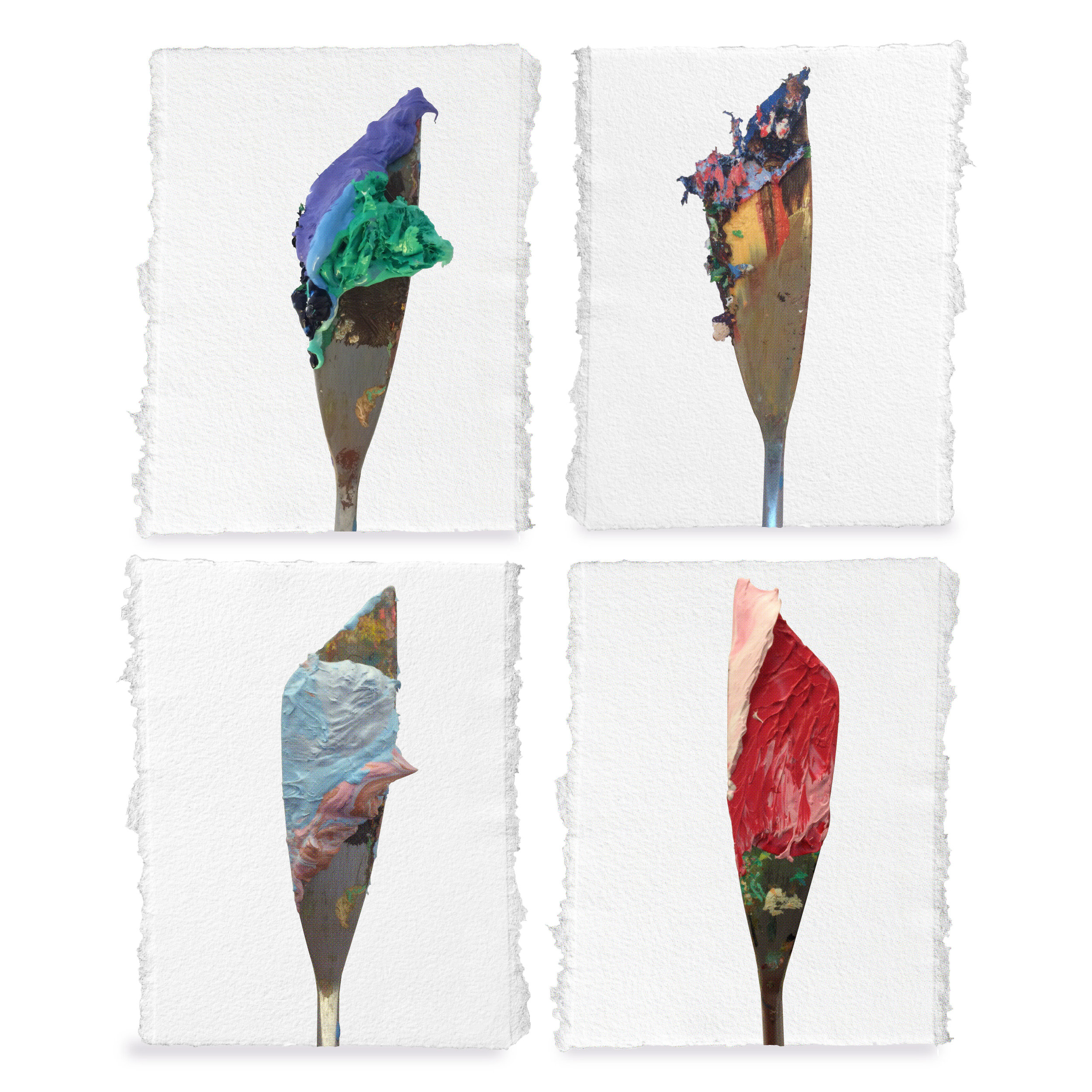 Colour.Pops - by Bradley E. RobinsonAvailable for small to large print shows or as large scale palette knife sculpture installation.