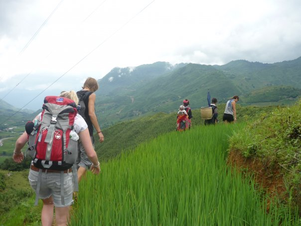 Trekking with new friends in Sapa, Vietnam