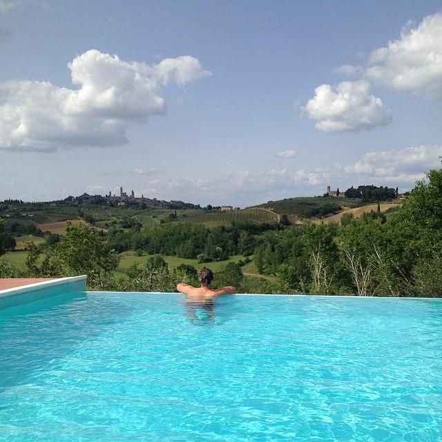 Tuscany - overlooking San Gimignano