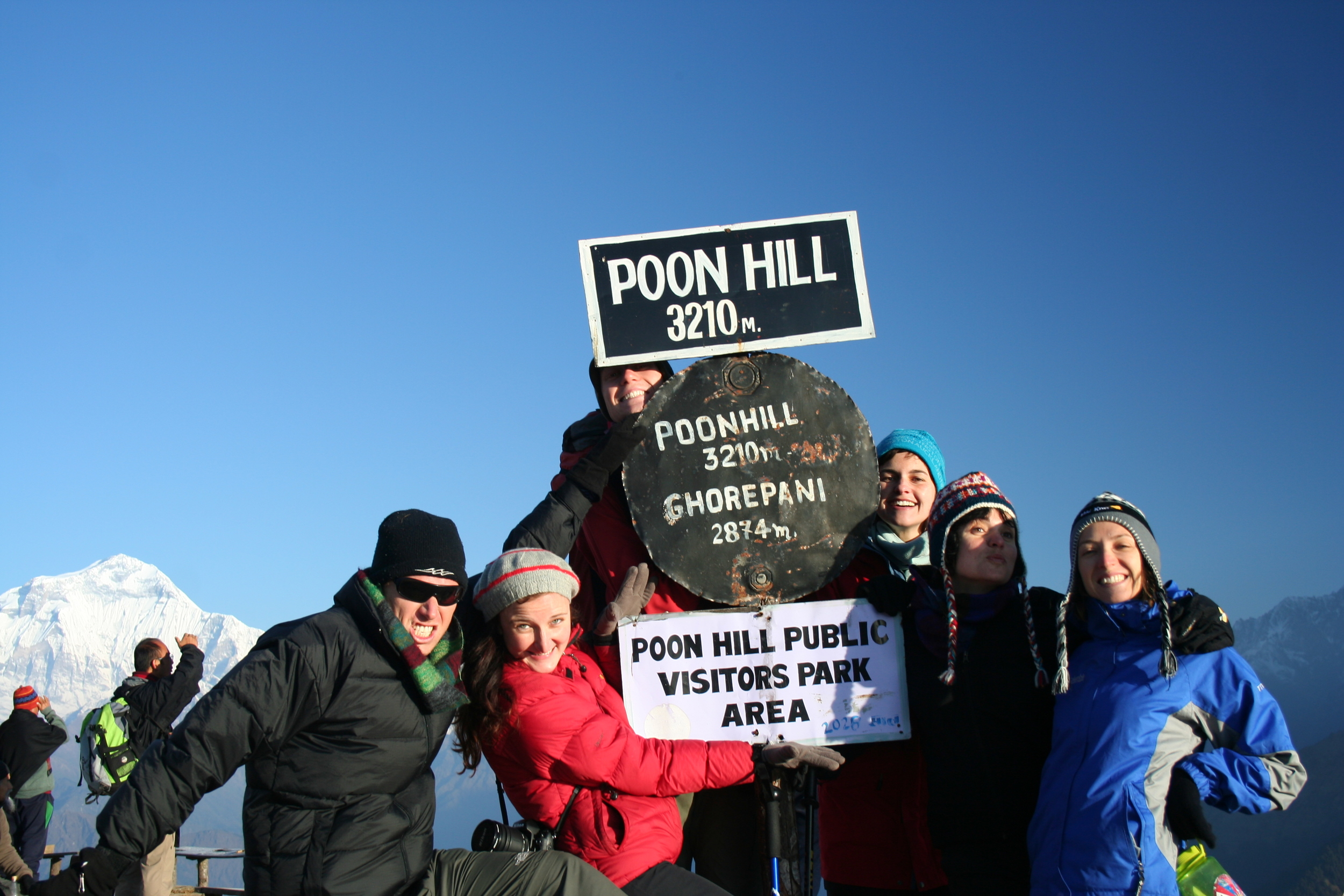 Aussies being ... Aussies. On Poon Hill, Nepal.