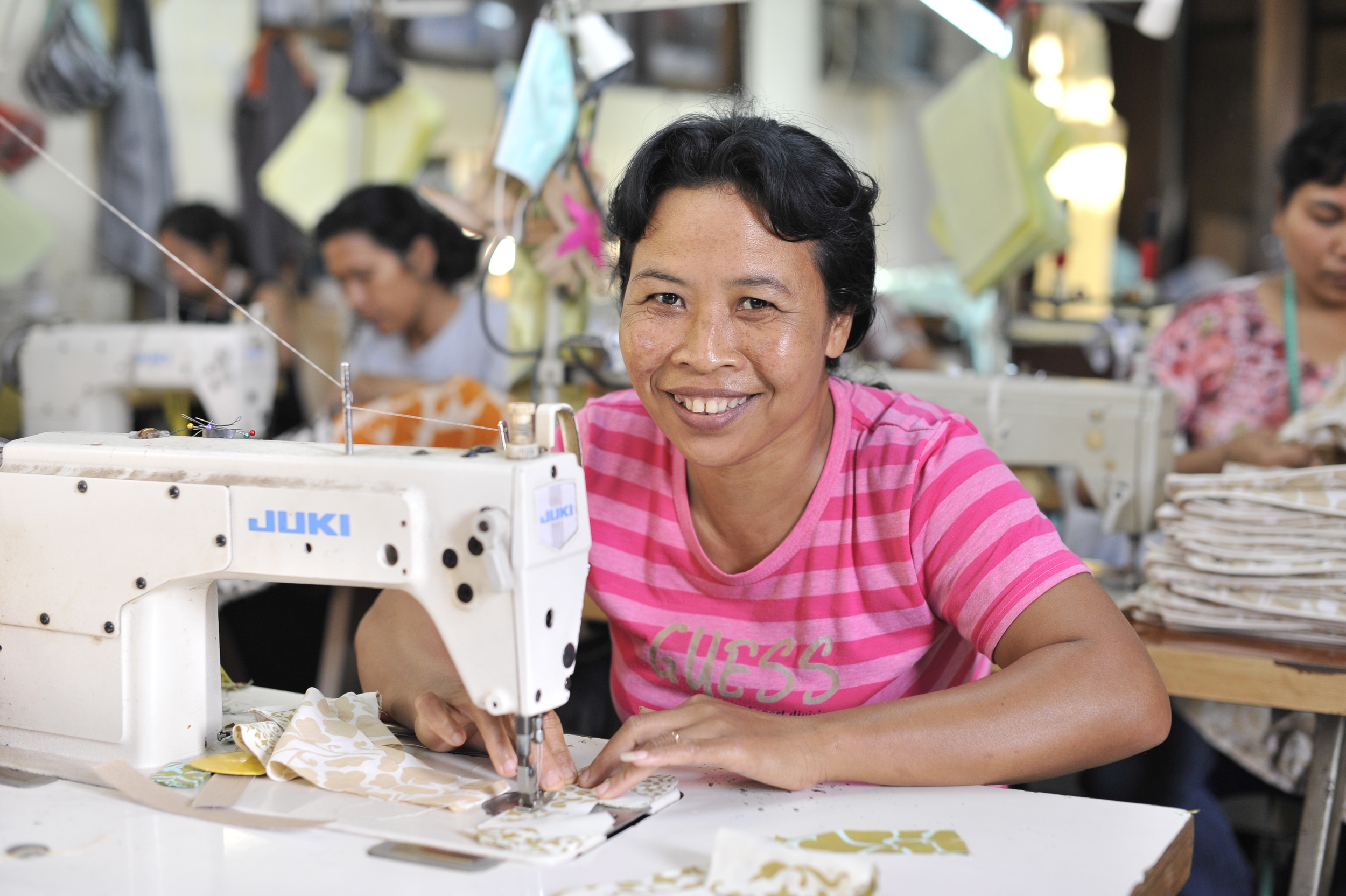 Producers of BaliZen's gorgeous Fairtrade fabric range are part of an ethical industry model IMAGE via BaliZen