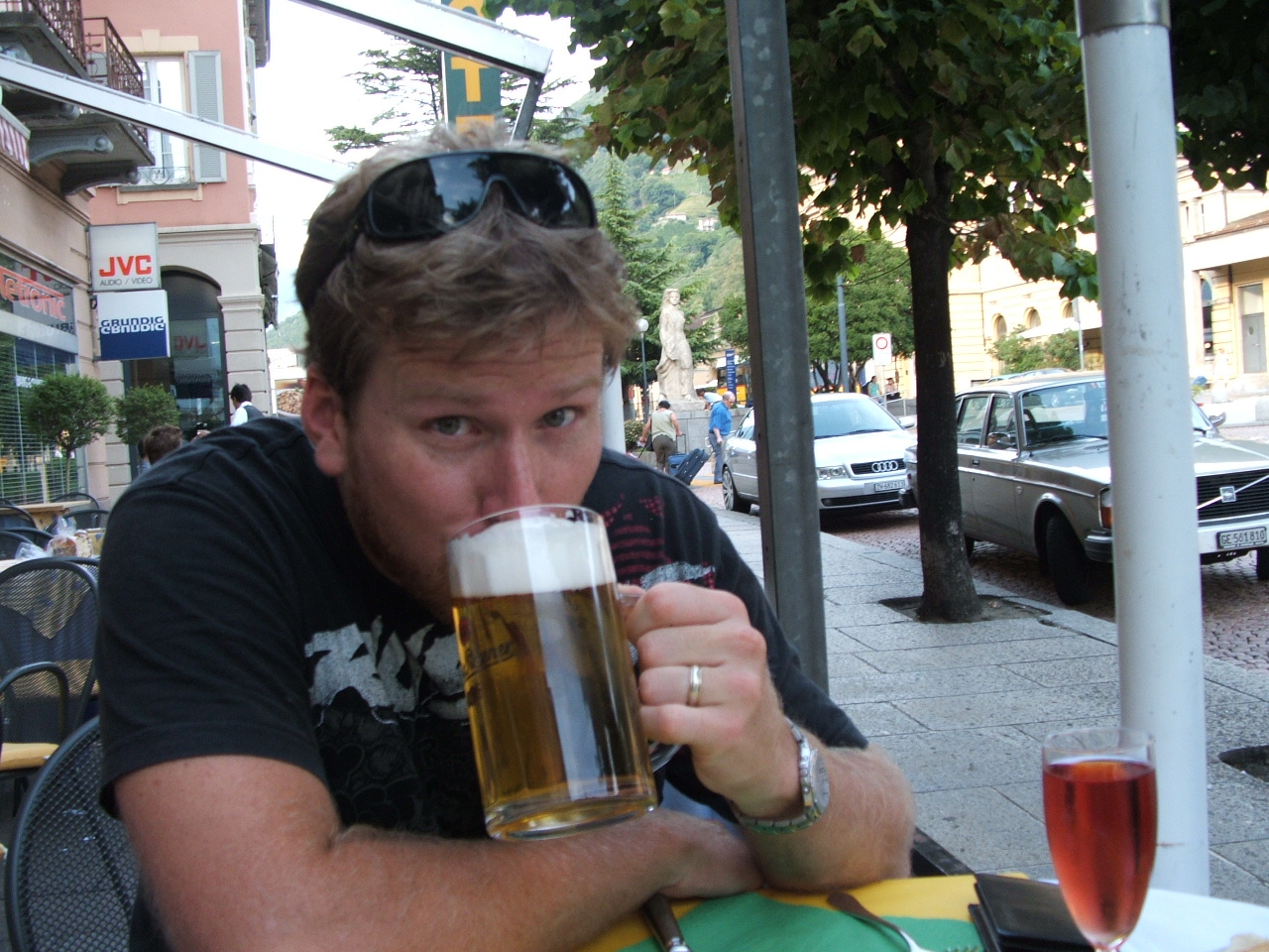 It's tragic but true - you should keep your beer drinking until your destination!
