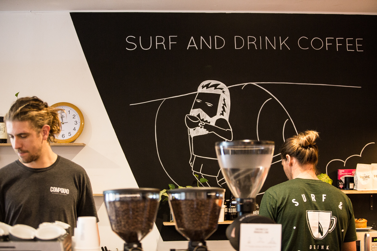 The baristas at Compound working their magic. Pic via Bianca White @The_Social_tribe