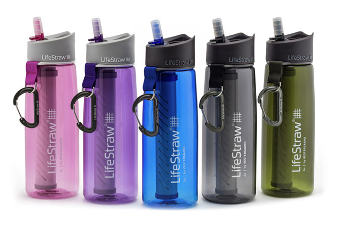 With LifeStraw you can drink water from pretty much anywhere! Pic via LifeStraw