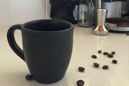 Charcoal earthenware cups set,  $36
