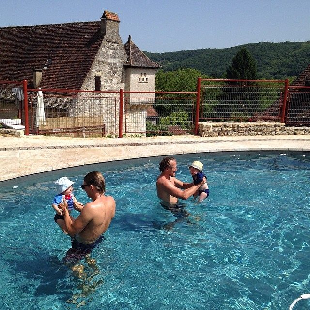 The pool, the view, the stone house, the French countryside! Ahhhhh!