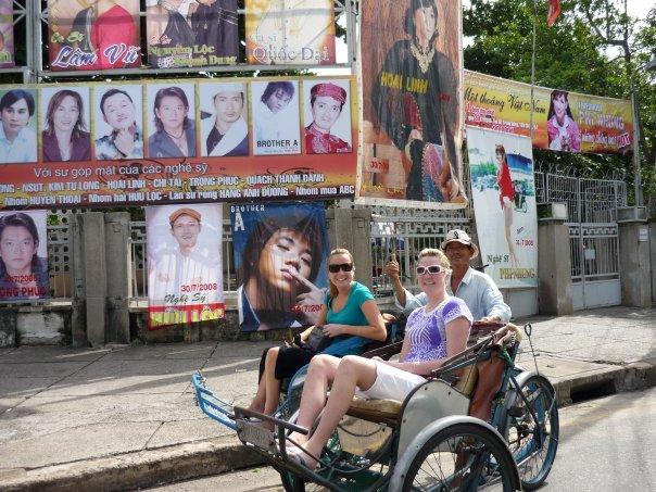 Taking in the sites of Ho Chi Minh on a cycle-rickshaw