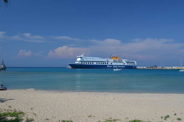 The ferry from Rhodes Island in Greece to Santorini - it's more like a cruise liner