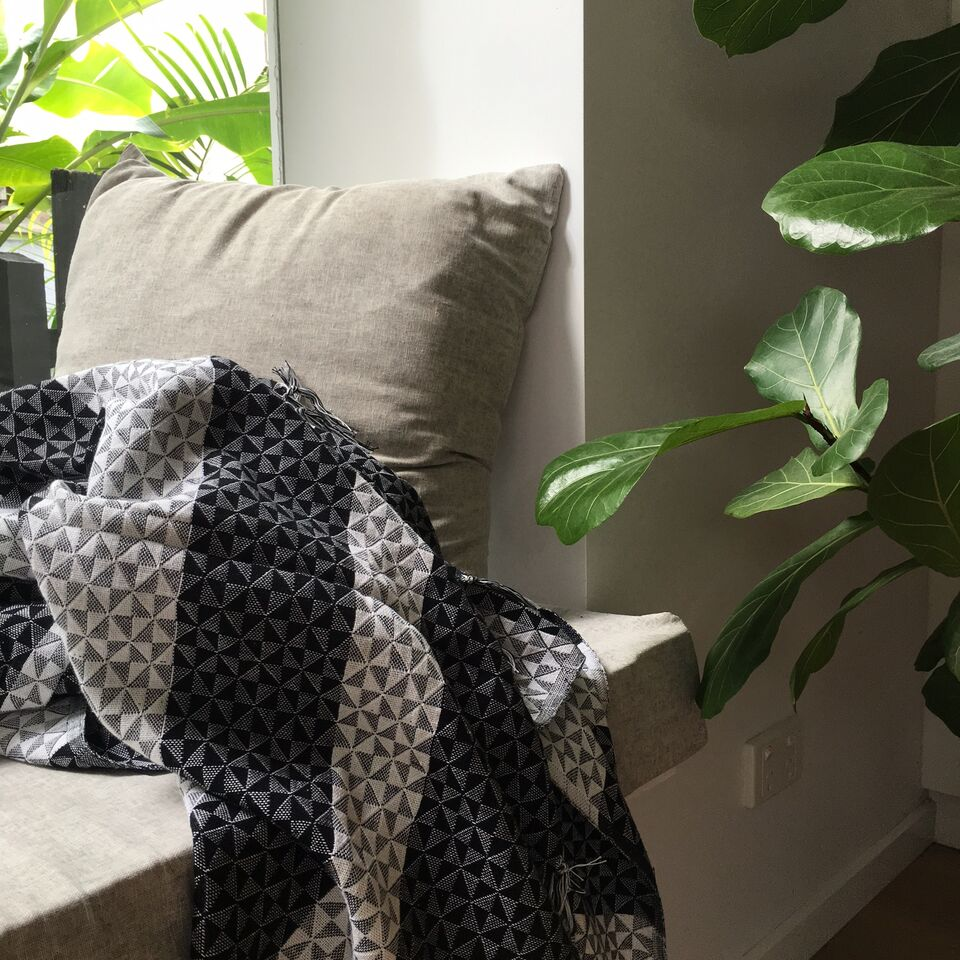 What could be cosier than a spot in the sunshine to snuggle up with a beautiful throw and a good book.