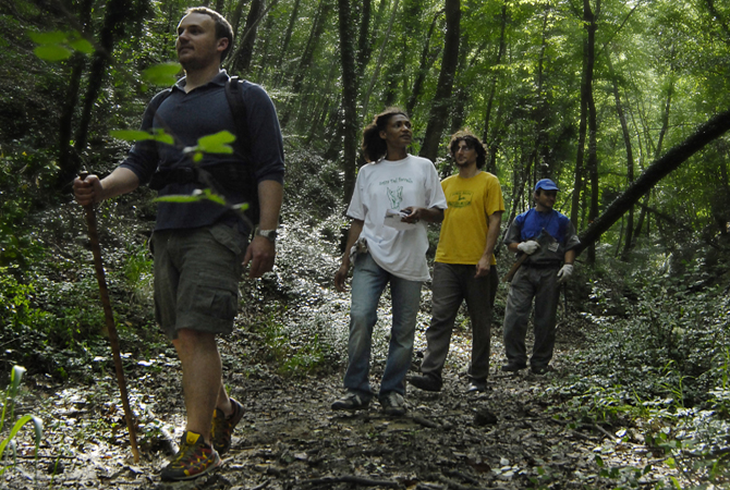 12 km of hiking trails in organic farm