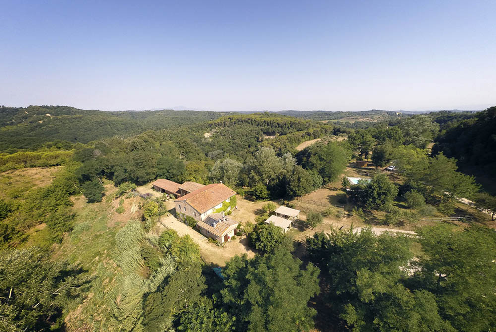 A view of the house of Brentina from the air.