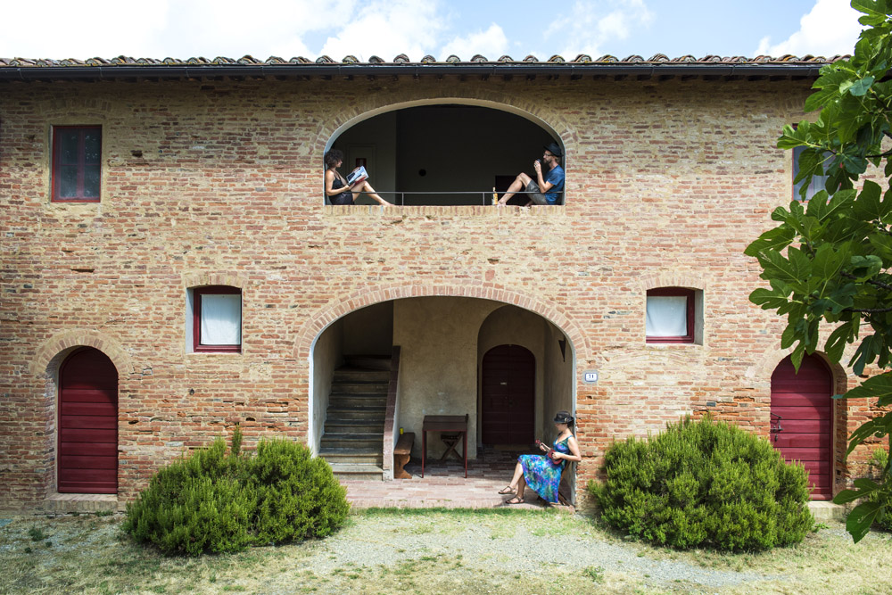 Three young guests enjoying their holidays in Barbialla Nuova