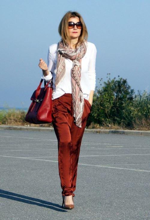 Узкие шарфы сделают вас выше и стройнее