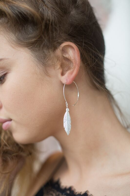 Stirling Silver Hoop Earrings, available in rose gold, gold and silver £20 Each