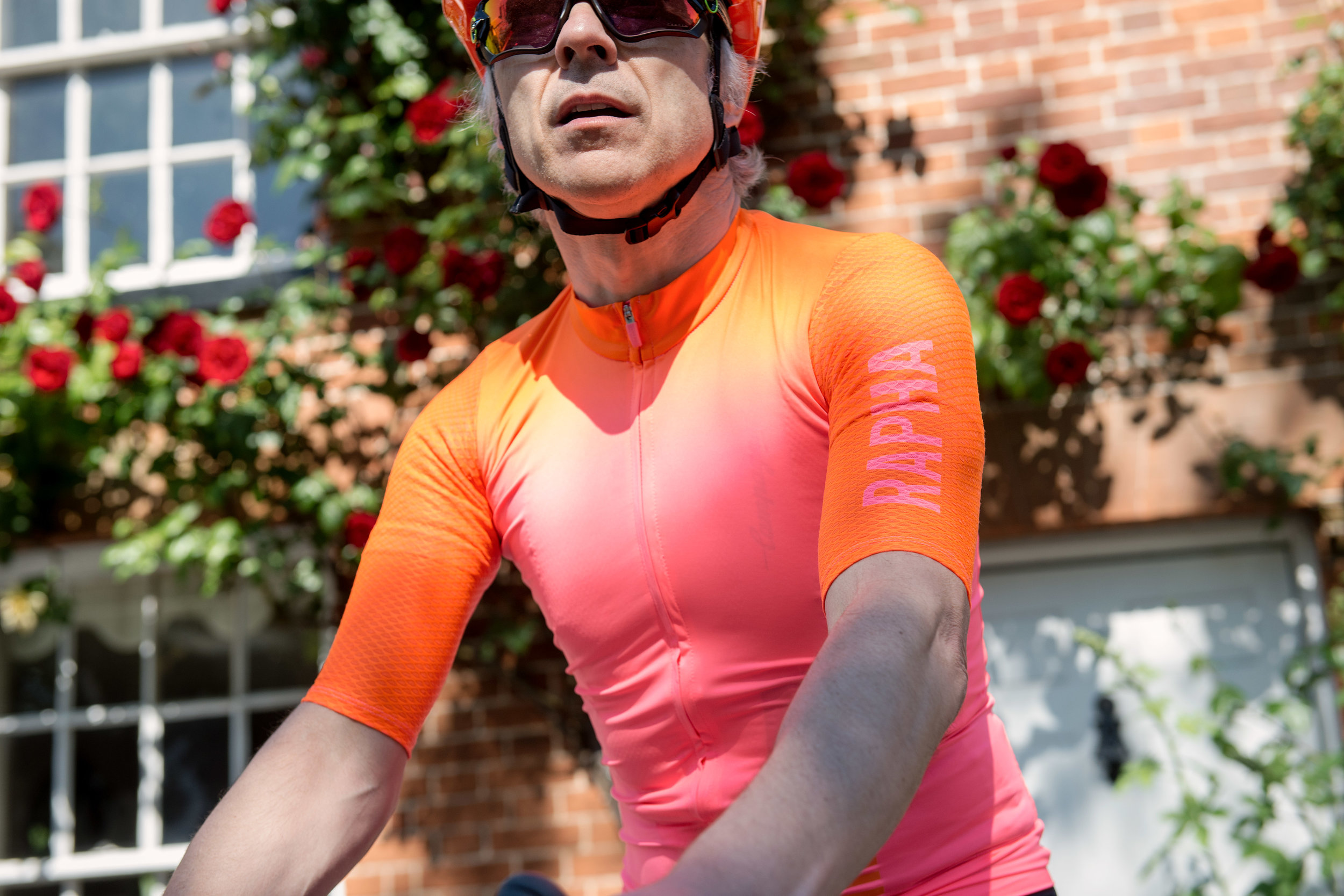 Rapha:  Race snake fit, retina burn orange