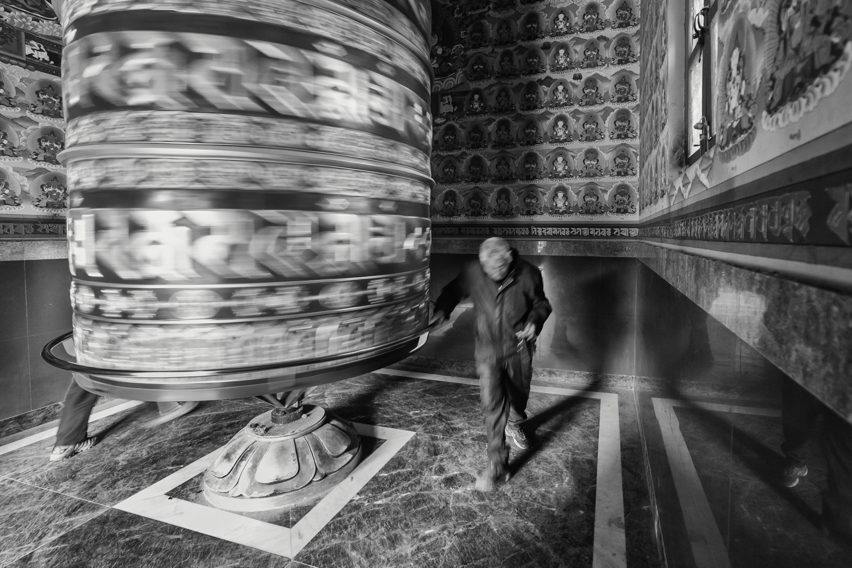 One of the many praying wheels in Kathmandu (Nepal) - Copyright: Daniel Hofmann