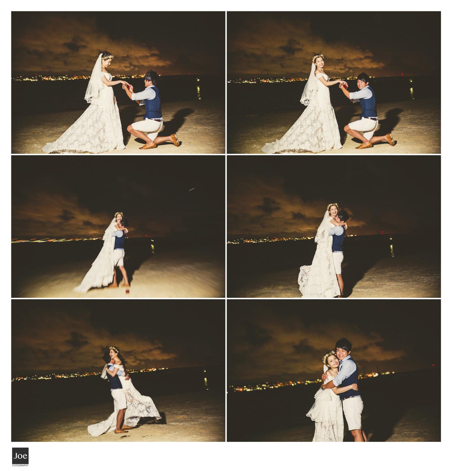 暗中計畫的求婚橋段,雖天已黑,但還是愛意滿滿😍