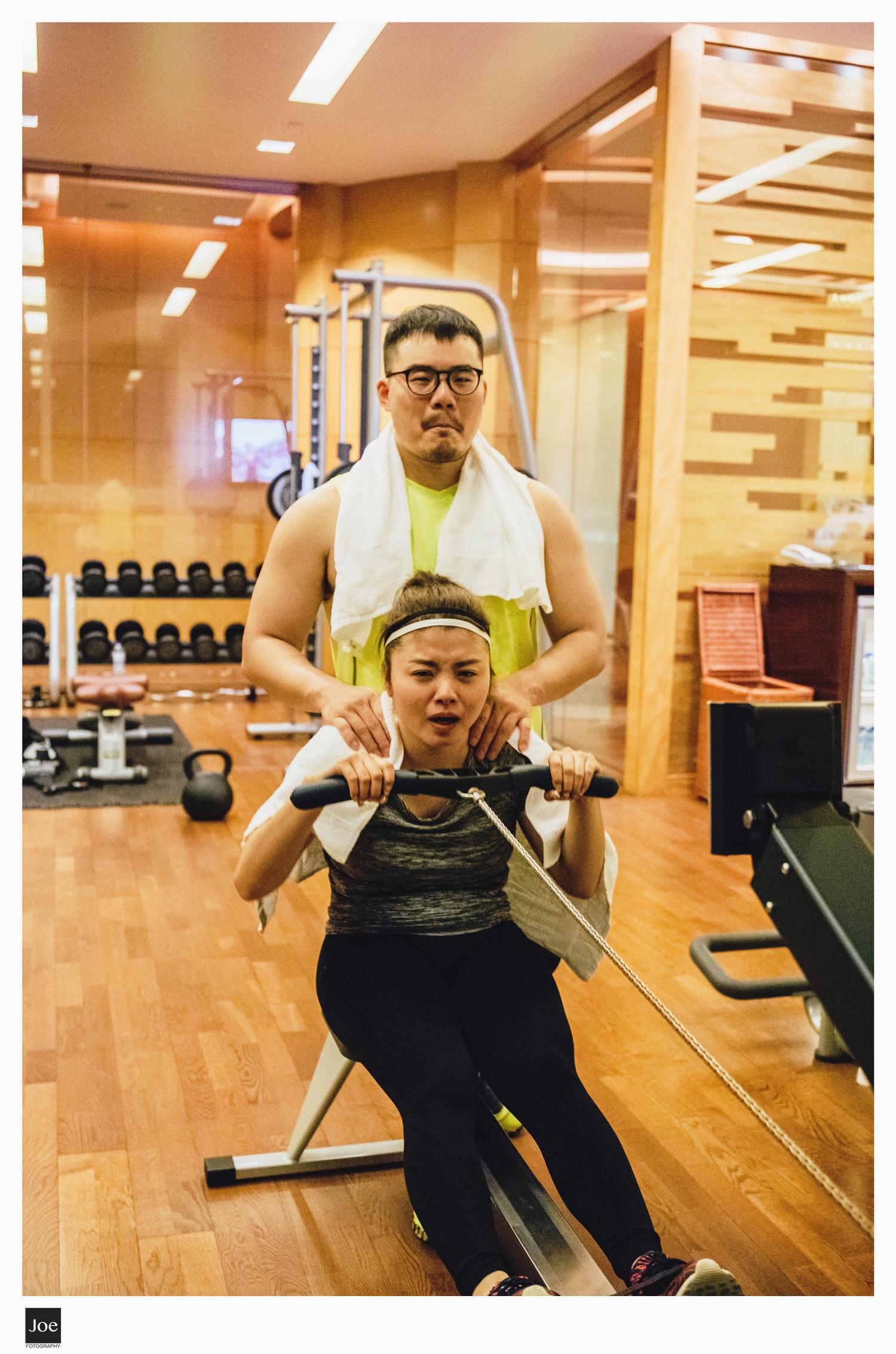 情侶夫妻倆能一起健身,是幸福👍