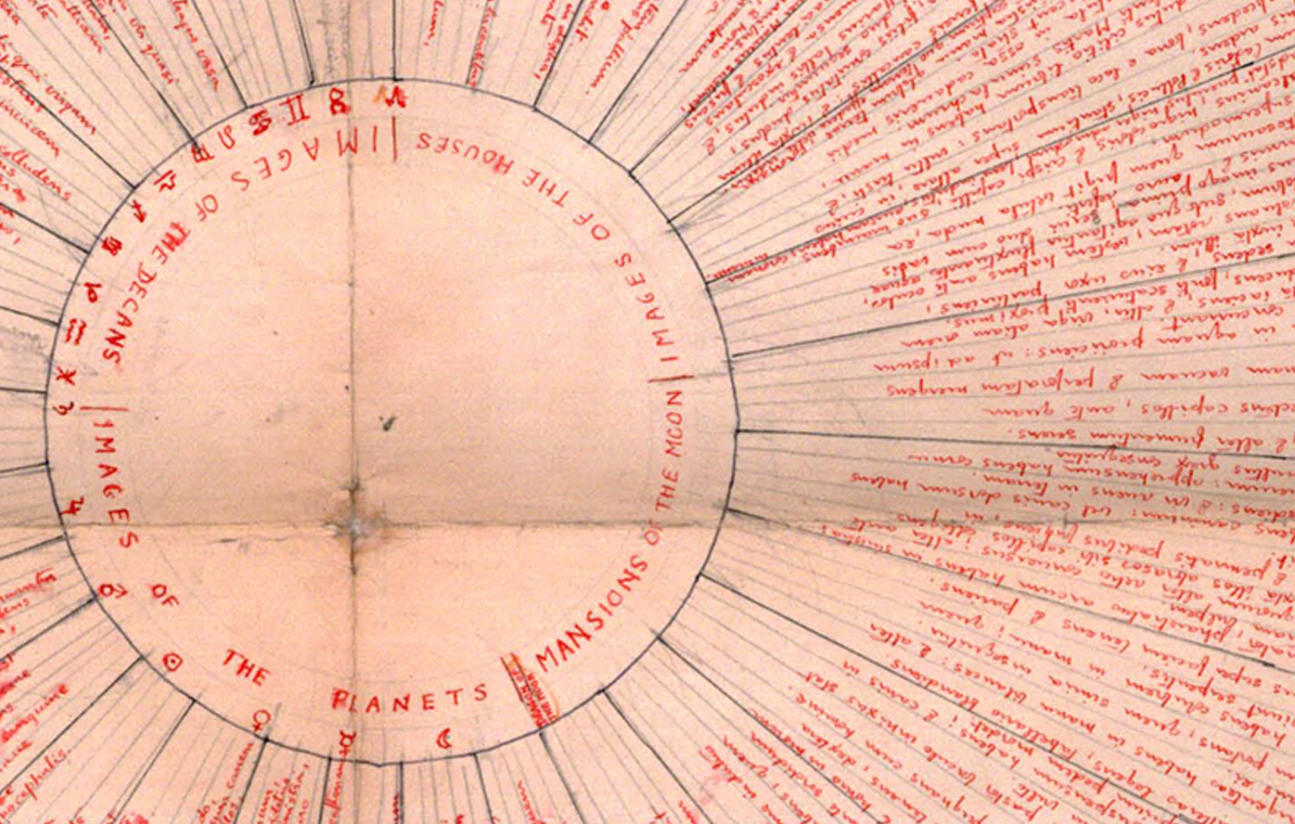 "Detail of Frances Yates' reconstruction of Giordano Bruno's memory wheel from  De Umbris Idearum  (1582)       Texts:                           Normal     0                     false     false     false         EN-US     JA     X-NONE                                                                                                                                                                                                                                                                                                                                                                                                                                                                                                                                                                                                                                                                                                                                                                                                                                                                                                                                                                                                                                                                                                                                                                                                                                                                                                                                                                                                                                                                                                                                                                                                                                                                                                                                      /* Style Definitions */ table.MsoNormalTable 	{mso-style-name:""Table Normal""; 	mso-tstyle-rowband-size:0; 	mso-tstyle-colband-size:0; 	mso-style-noshow:yes; 	mso-style-priority:99; 	mso-style-parent:""""; 	mso-padding-alt:0cm 5.4pt 0cm 5.4pt; 	mso-para-margin:0cm; 	mso-para-margin-bottom:.0001pt; 	mso-pagination:widow-orphan; 	font-size:12.0pt; 	font-family:""Cambria"",serif; 	mso-ascii-font-family:Cambria; 	mso-ascii-theme-font:minor-latin; 	mso-hansi-font-family:Cambria; 	mso-hansi-theme-font:minor-latin; 	mso-ansi-language:EN-US; 	mso-fareast-language:EN-US;}        The Art of Memory,  1966 ,  Frances A. Yates   Giordano Bruno: Philosopher / Heretic,  2008 ,  Ingrid Rowland   The Ash Wednesday Supper,  Giordano Bruno, edited and translated by E.A. Gosselin and L.S. Lerner, 1995   Gravity and Grace , 1947, Simone Weil   Paul Thek Artist's Artist , 2009, edited by Harald Falckenberg and Peter Weibel   An Outline of European Architecture,  1942, Nikolaus Pevsner   The Mind in the Cave,  2002, David Lewis-Williams   Metaphors We Live By , 1980, George Lakoff and Mark Johnson   On the Marionette Theatre , 1810, Heinrich von Kleist   The Moose , Elizabeth Bishop  You can find a good recording of Bishop reading it online; it is also read (and discussed) here, I think Laird's accent and delivery is beautiful.    Life, Friends, is Boring , John Berryman  Great reading by Berryman recorded in Dublin in 1967    Sidelined,  Elfride Jelinek  Lecture presented in absentia upon winning Nobel Prize for Literature, 2004       Film    Hard to be a God,  2013, directed by. Aleksei German based on the novel of the same title by Boris and Arkady Strugatsky   TV    The Sopranos , 1999-2007, created by David Chase     * * *    Primer  is a new series of reference lists compiled by artists at the invitation of the Douglas Hyde Gallery on the occasion of their exhibitions. We would like to thank Isabel Nolan for her generous contribution."