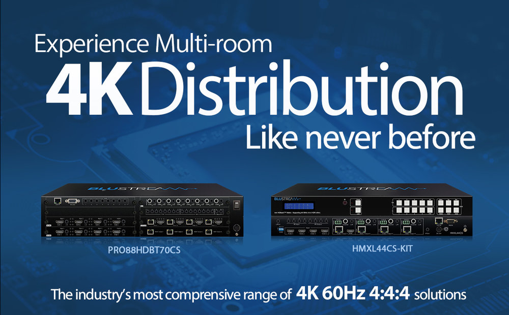 NEW - 4x4 HDBaseT™ Matrix Kit supporting 4K HDR - In Stock
