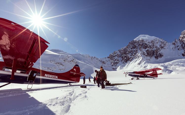 Pristanek na ledeniku