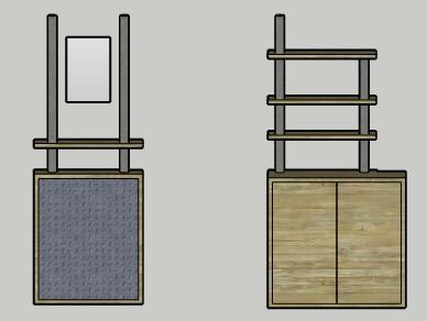 Mocked up 3D designs