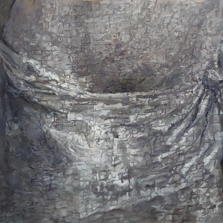 Detail, belly (Simone Marmion, Crucifixion) 2011