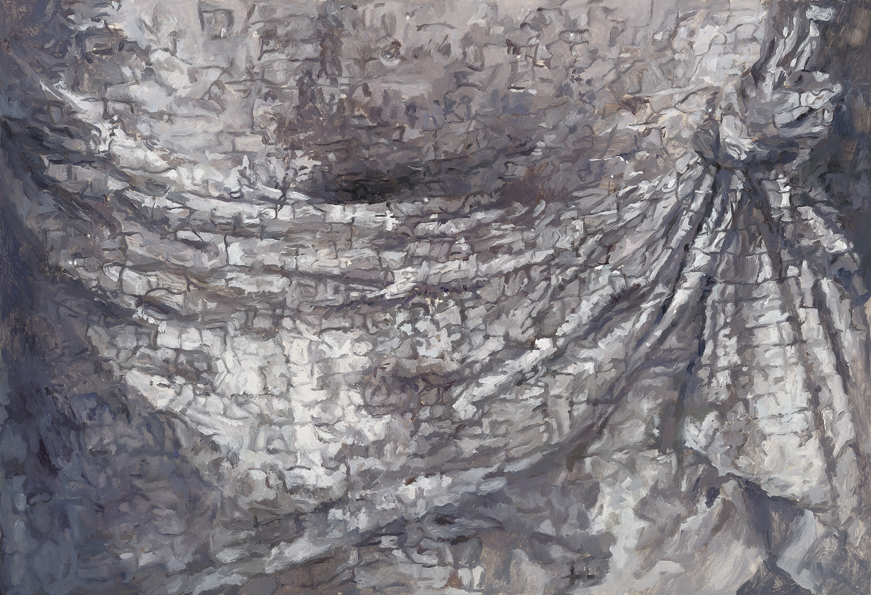 Detail, belly, (Simone Marmion, Crucifixion) 2011