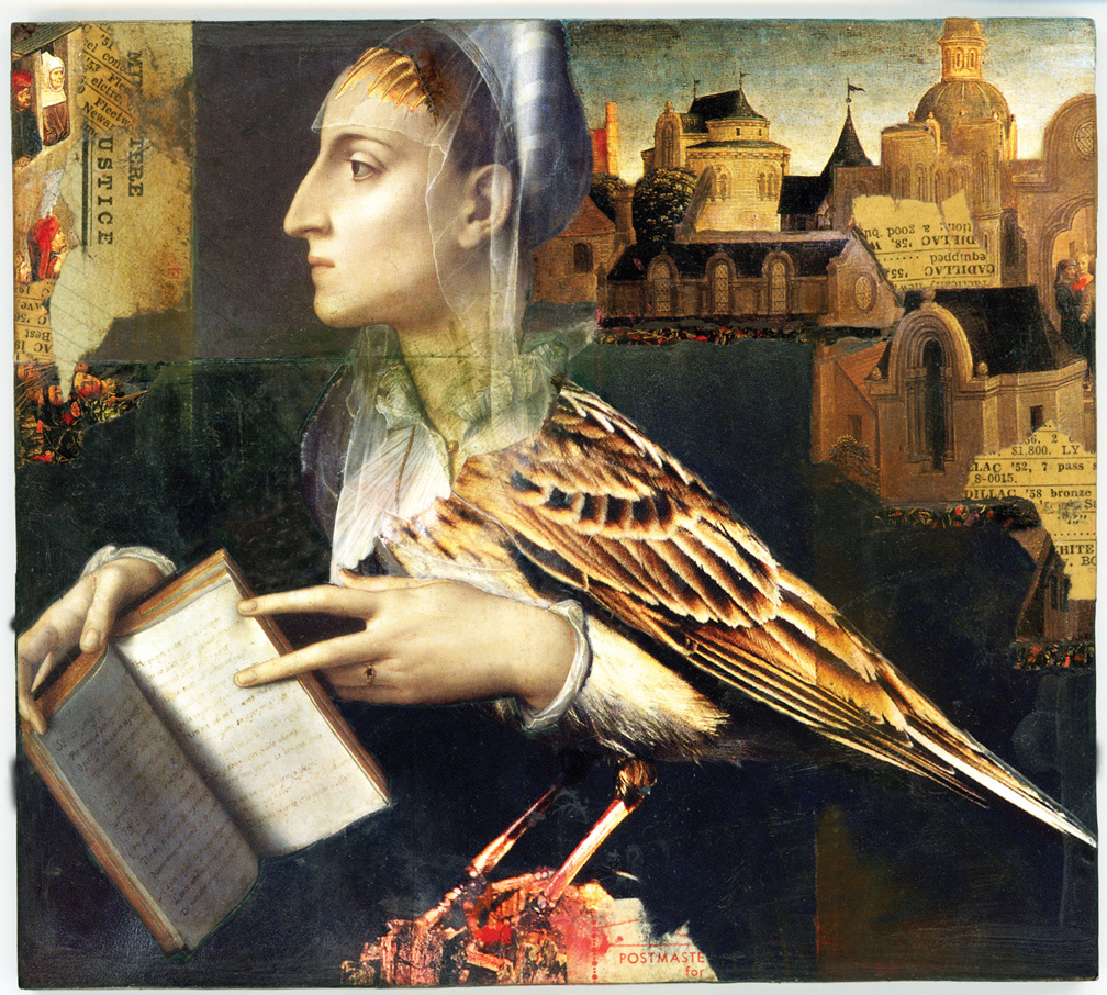 The Fables: Beatrice and her Notebook (2011), collage, 12 x 11 in.