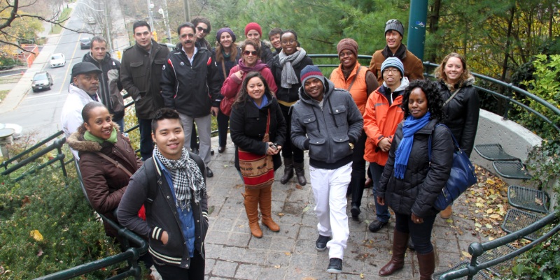 Our Stepping Stones participants on a city tour